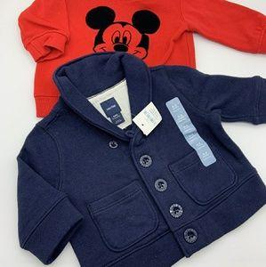 Disney & Baby Gap Bundle Of 2 Sweaters Sz: 0-3M